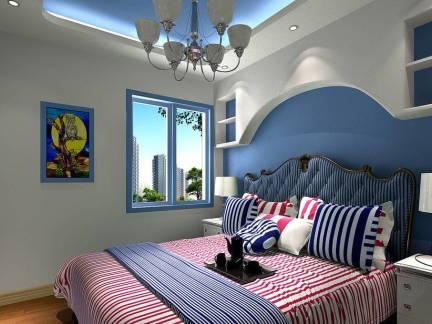 灰色地中海风格华美儿童房灯具装修图片