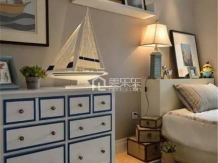 彩色地中海风格儿童房舒适储物柜装修效果图