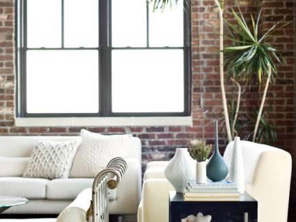 白色温馨地中海风格客厅飘窗装修图片