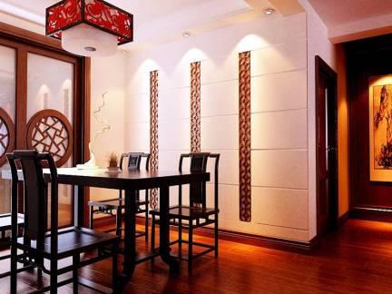 彩色中式风格餐厅隔断装修效果图