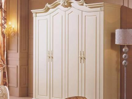 米色欧式风格卧室衣柜装修美图