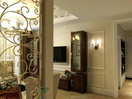 白色唯美欧式风格客厅灯具装修设计图