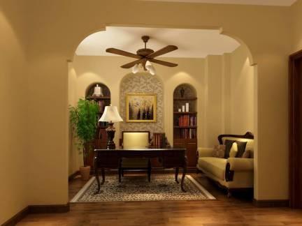 灰色地中海风格书房沙发装修图片