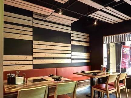 彩色现代风格餐厅文艺吊顶装修效果图
