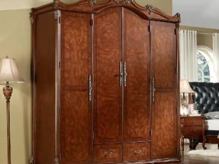 棕色欧式风格衣帽间衣柜装修设计图