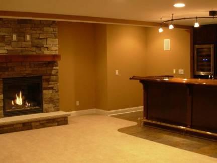 棕色中式客厅吧台装修设计图