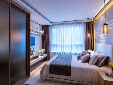 雅致唯美欧式风格卧室白色吊顶