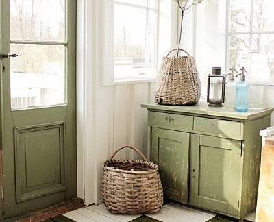 浪漫白色现代风格阳台储物柜装修图片