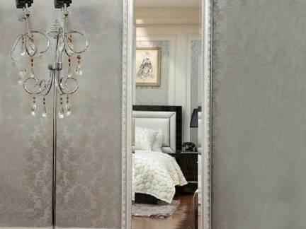 灰色欧式风格卧室衣柜装修设计图