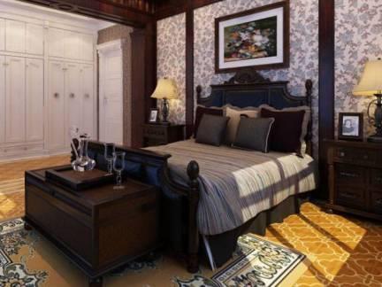 白色欧式风格卧室衣柜装修效果图