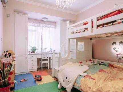 白色现代风格儿童房榻榻米装修美图