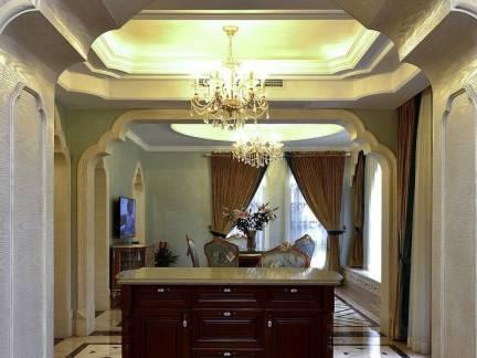 棕色欧式风格卫生间吊顶装修图片