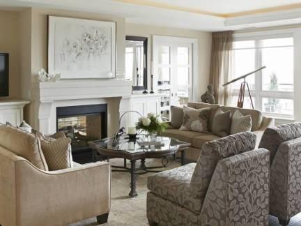 灰色优雅欧式风格客厅飘窗装修美图