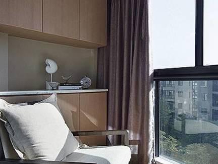 彩色现代风格阳台窗帘装修效果图