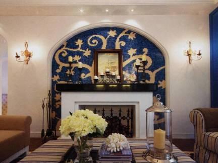 时尚米色地中海风格文艺客厅背景墙