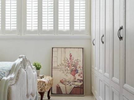 优雅白色美式风格卧室榻榻米装修美图