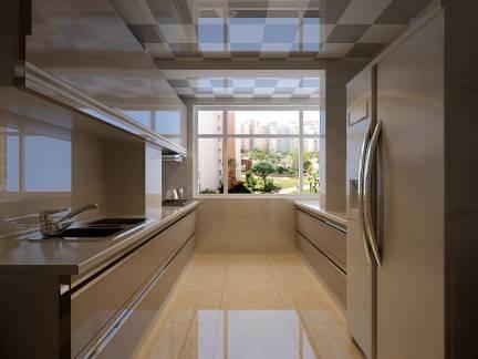 棕色现代风格厨房吊顶装修美图