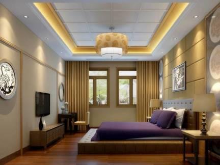 2019卧室有梁吊顶造型设计-房天下装修效果图