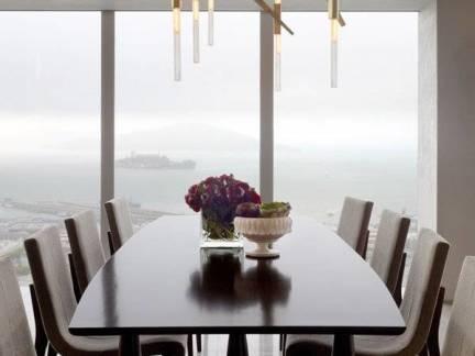 舒适灰色现代风格餐厅吊顶