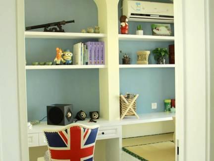 米色华美地中海风格儿童房储物柜装修图片
