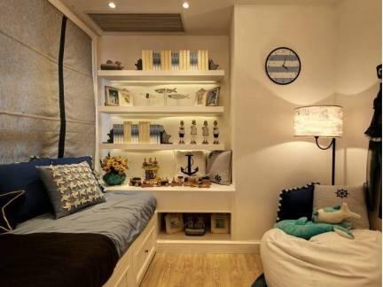 米色地中海风格卧室榻榻米装修效果图