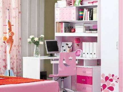 粉色现代风格儿童房榻榻米装修效果图
