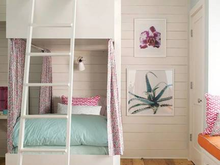 白色舒适现代风格儿童房榻榻米装修效果图