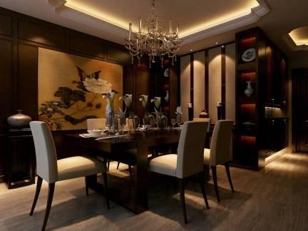典雅庄重欧式风格餐厅灰色吊顶