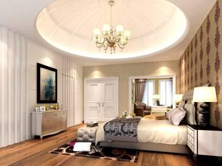 文艺时尚欧式风格卧室白色吊顶