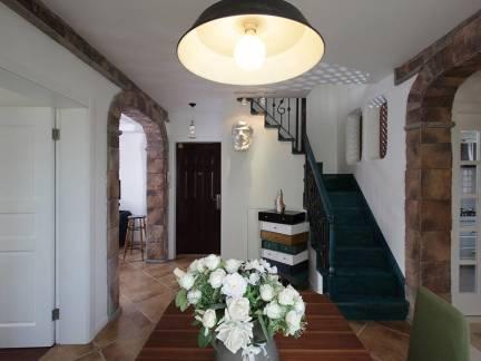 灰色地中海风格餐厅唯美吊顶装修设计图