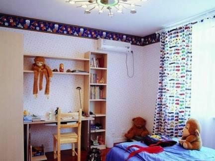 彩色地中海风格儿童房床装修图片