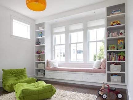 白色现代风格文艺儿童房榻榻米装修效果图