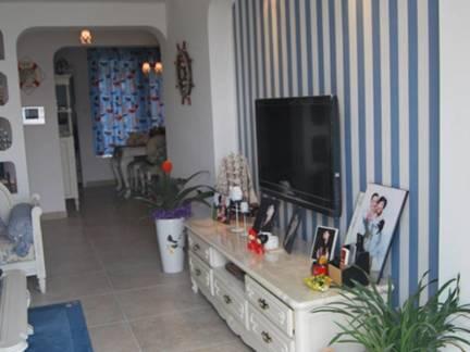 灰色地中海风格浪漫客厅电视柜装修图片