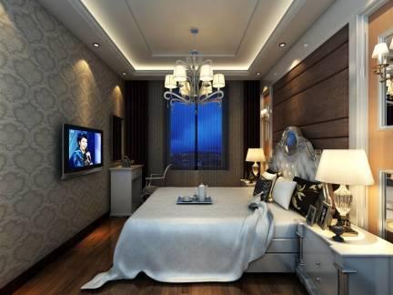 欧式风格卧室白色床头柜装修美图