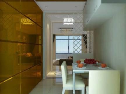 白色现代风格唯美餐厅吊顶