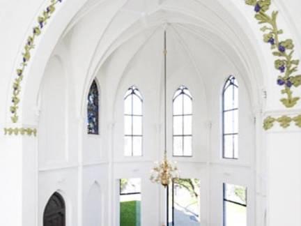白色地中海风格舒适餐厅吊顶装修效果图