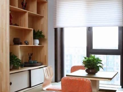 棕色现代风格阳台榻榻米装修设计图