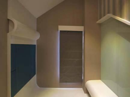 棕色现代风格卧室榻榻米装修图片