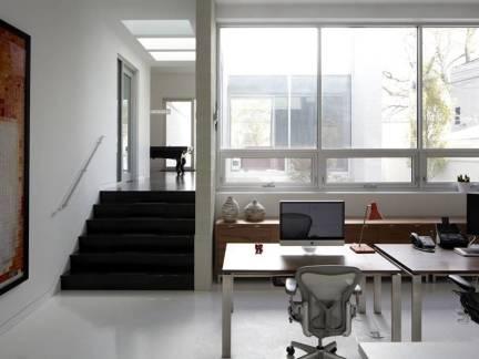 舒适灰色现代风格书房飘窗装修效果图