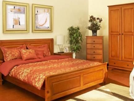 棕色中式风格卧室衣柜装修图片