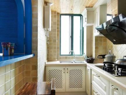 米色地中海风格厨房吊顶装修设计图