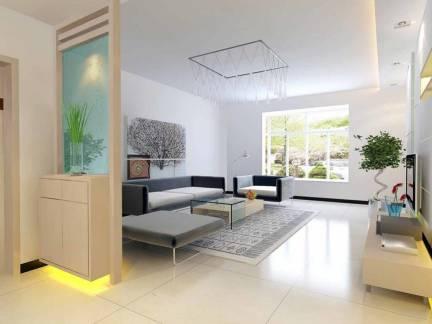 温馨白色现代风格客厅飘窗装修图片