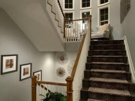 文艺灰色现代风格阁楼楼梯装修效果图