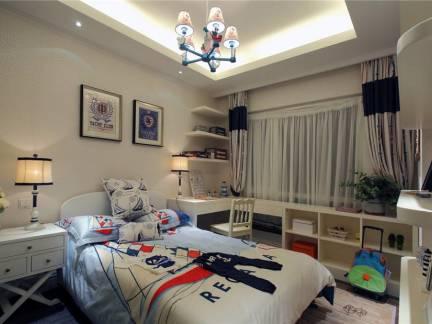 灰色地中海风格儿童房窗帘装修美图