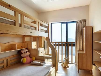 简约风格儿童房原木色榻榻米装修效果图