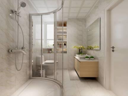白色现代风格卫生间吊顶装修美图