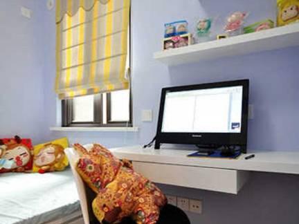 灰色现代风格儿童房榻榻米装修设计图