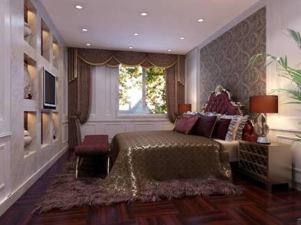 欧式风格卧室白色电视柜装修图片