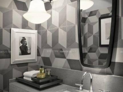 灰色现代风格卫生间吊顶装修图片