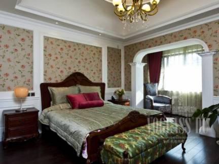 黄色欧式风格卧室吊顶装修美图